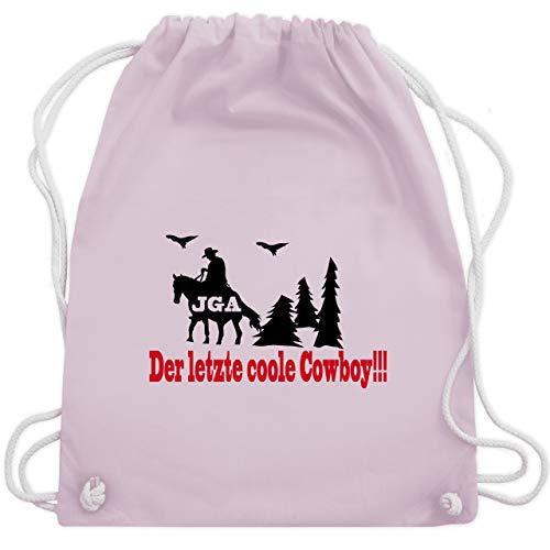JGA Junggesellenabschied - Der letzte coole Cowboy - Unisize - Pastell Rosa - WM110 - Turnbeutel & Gym ()
