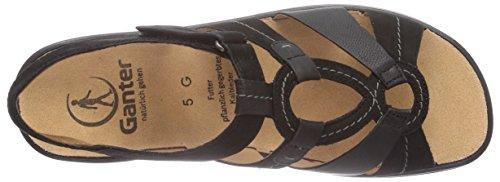 Ganter MONICA Weite G Damen Sandalen Schwarz (schwarz 0100)
