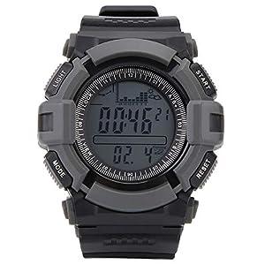 SUNROAD Digital Fishing Watch Professionelle Outdoor Sportuhr mit Baromete Höhenmesser Thermometer Uhr