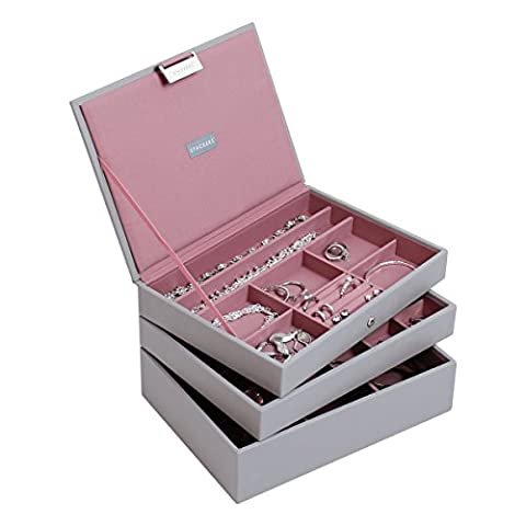 Stackers Dove Grey Classic Jewellery Box - Set of 3