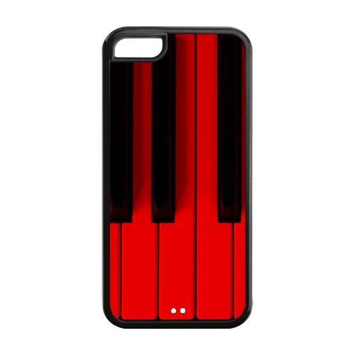 Piano Film de protection Nouveau Attractive couleur peinture Protecteur de peau et durs étuis de protection Case Etui Coque pour Apple iPhone 5C