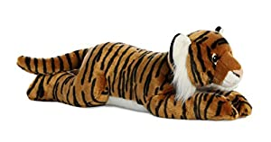 Aurora World 31627 Super Flopsie - Tigre bengalí (27,5 Pulgadas), Color marrón