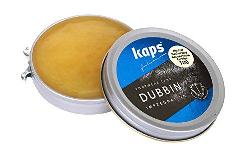 Kaps Cera Dubbin per Scarpe di qualità, Nutrimento E Impermeabilità per Pelle, Dubbin, 3 Colori (Trasparente, 50ml)