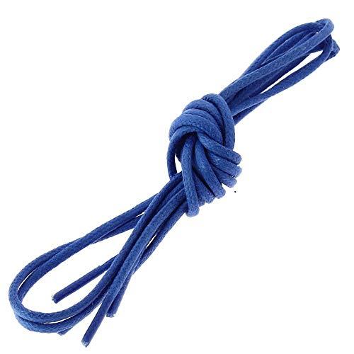 Les lacets Français - Lacets Ronds Coton Ciré Couleur Bleu Blason