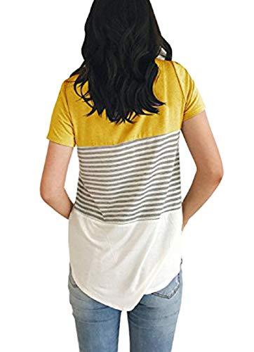 UMIPUBO Bluas de Mujer Camisa Algod/ón Blusa Mujer Elegante Manga Corta Camisa Suelta Mujer Casual Verano Shirts