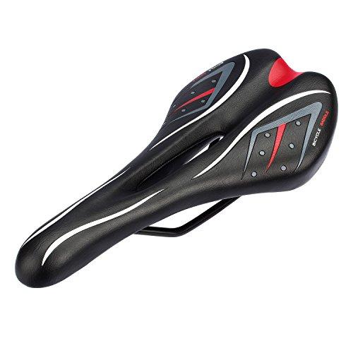 Fahrradsattel von Outry, leichte und komforte Rennradsättel Cityradsattel MTB Gel Sattel Mountainbike Sattel Tourensattel Trekking (Italia-Modell-Sattel, 275/145)