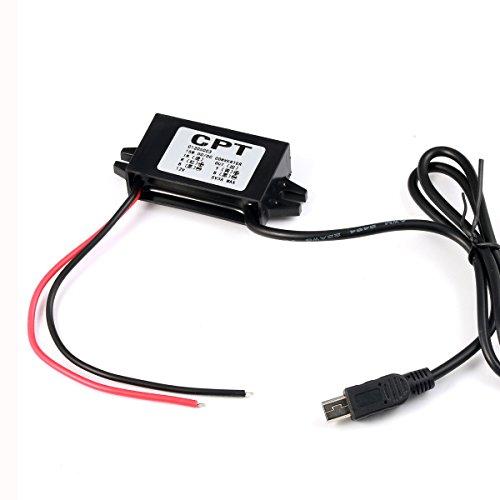 Preisvergleich Produktbild GEREE DC DC Konverter Schritt unten Modul 12V bis 5V 3A 15W Mini USB Ausgabe Leistung Adapter