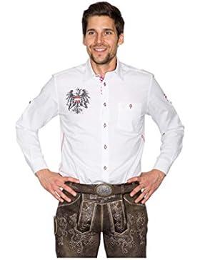 Michaelax-Fashion-Trade Krüger - Herren Trachtenhemd in Weiß, Österreich (94114-1)