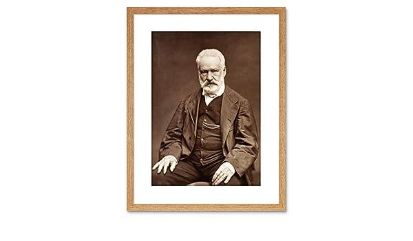 Vintage Photo Victor Hugo Portrait Framed Art Print Poster F97X12312