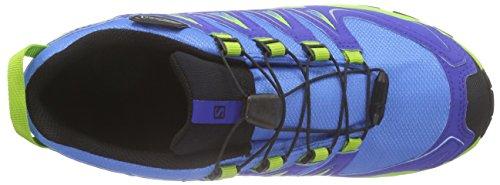 Salomon Unisex-Kinder Xa Pro 3d Cswp Trekking-& Wanderhalbschuhe Blau (Freedom Blue/Cobalt/Granny Green)