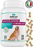 Integratori per Cani Articolazioni [ 120 COMPRESSE ] Fornitura 3/6 Mesi | Made in Italy | Integratore per Cani Naturale con Curcuma | Collagene, Glucosamina, Condroitina