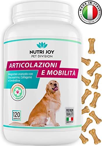 Integratore per Cani Articolazioni | 120 COMPRESSE | Fornitura 3/6 Mesi | Made in Italy | Integratore per Cani Naturale con Curcuma | Collagene, Glucosamina, Condroitina
