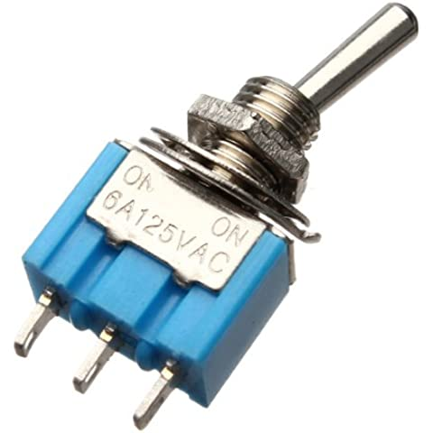 3 Pins Toggle Switch AC 125V 6A ON / ON 2 Posizione SPDT