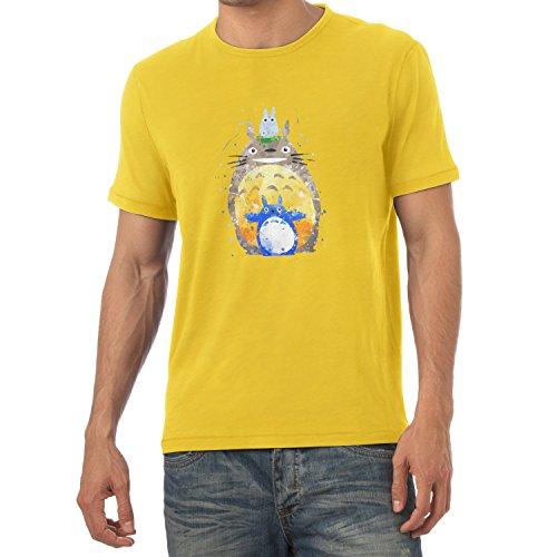 TEXLAB - Aquarell Nachbar - Herren T-Shirt Gelb
