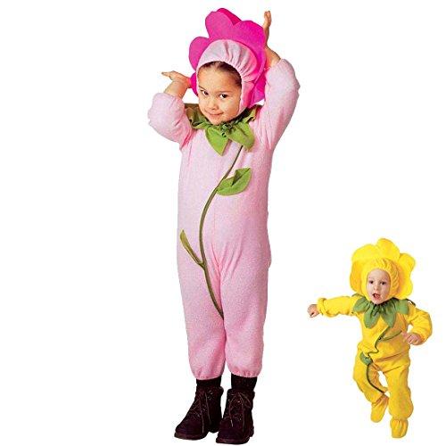 Kinder Blumenkind Kostüm - Amakando Kinderkostüm Blume Blumenkostüm Kinder 110 rosa Blümchenkostüm Blumenkind Kostüm Cozy Suit Blüte Faschingskostüm Overall