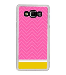 Fiobs Designer Back Case Cover for Samsung Galaxy A8 (2015) :: Samsung Galaxy A8 Duos (2015) :: Samsung Galaxy A8 A800F A800Y (Pink Zigzag Yellow Pattern)