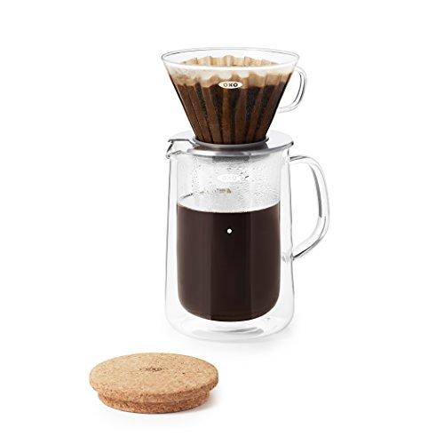 OXO Good Grips Kaffeefilter aus Glas Kaffeefilter-(Pour-Over-) Set, Glas 24 ounce farblos 24 Oz Glas