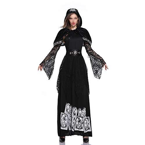 YyiHan Halloween Kostüm, Outfit Für Halloween Fasching Karneval Halloween Cosplay Horror Kostüm,Halloween Adult Female Vampir Service Earl Kostüm Dark Ghost Bride Hexe Prinzessin - Adult Gothic Prinzessin Kostüm