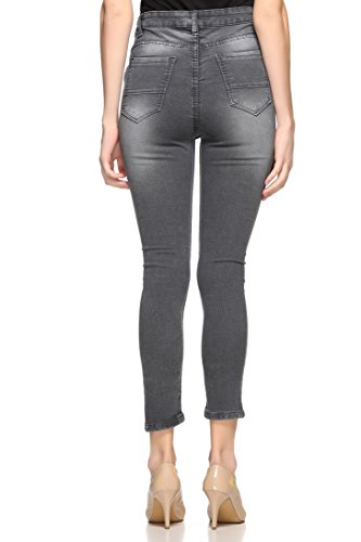 8cbf8485ee4 Fasnoya Women s Grey Ripped Skinny Fit Jeans - Compare With Ease
