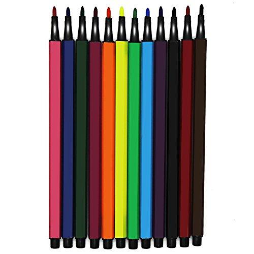 Ciaoed Set 12 Stück Verschiedenen Farben Aquarell Stift Gelstifte Pastellfarben Basteln Schreiben Zeichnen (12 Farbe)