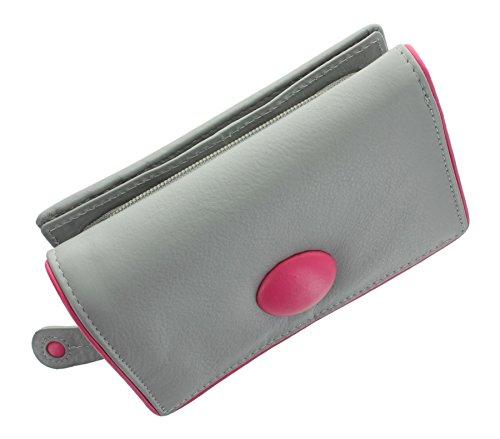 Mala cuoio del tasto Collection borsa 3271_2 nero grigio