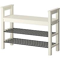 IKEA ASIA HEMNES - Banco con Zapatero, Color Blanco