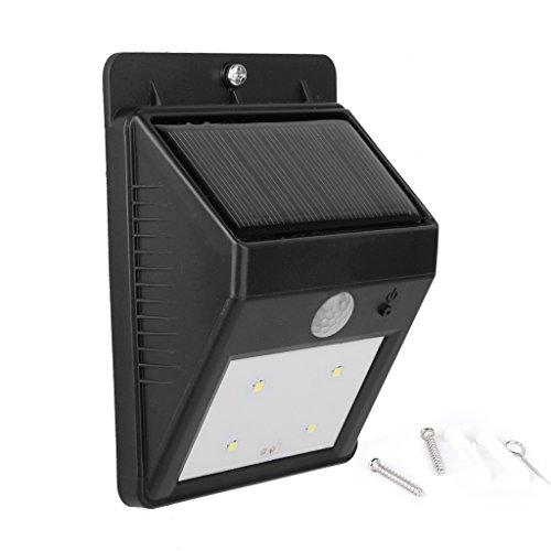 Helle weiße LED Solarstrom PIR Gerätehaus Motion Sensor Wand Licht Sicherheit