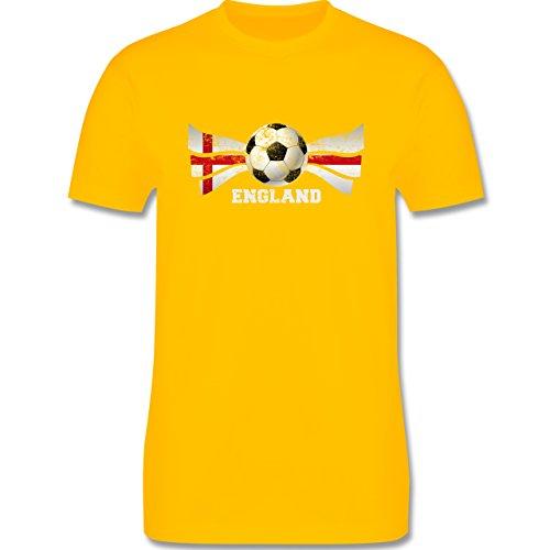 EM 2016 - Frankreich - England Fußball Vintage - Herren Premium T-Shirt Gelb