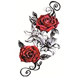 Rose Stickers Temporary Tattoo Waterproof Unisex