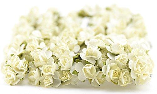 fiveseasonstuffr-144-pcs-ivory-paper-rose-flowers-artificial-flowers-perfect-for-wedding-favour-boxe