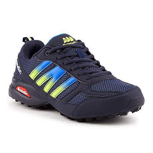 Fusskleidung Herren Sportschuhe Neon Laufschuhe Runners Fitness Gym Turnschuhe Dunkelblau Blau Grün EU 47
