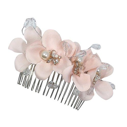 Sharplace Hochzeit Blume Brautschmuck Haarkamm Haarschmuck für Braut und Brautjungfer
