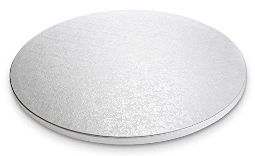 Städter 900028 Cake Board, plateau à gâteau rond à gâteau, plastique, blanc, 30 x 30 x 1,2 cm