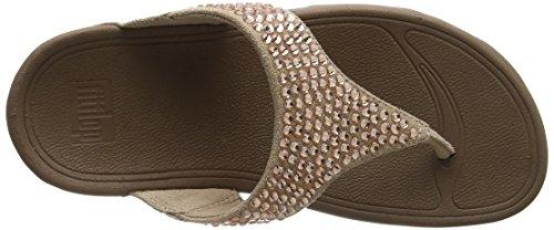Fitflop Glitzie Toe-Thong Sandals, Sandali Punta Aperta Donna Beige (Nude)