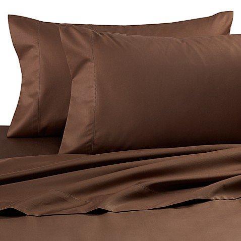 Dream Zone wamsutta 750-thread-count Kissenbezügen King in Schokolade (Set von 2) - Schokolade Satin Kissenbezug