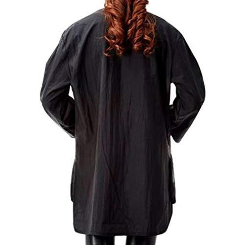 Spa-uniformen (LIXIAQ1 Friseur-Schönheits-Overall-Langer Hülsen-Knopf-lose Make-upmassage-Badekurort-Schutzblech-Uniform)