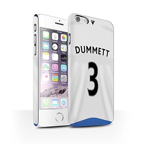 Offiziell Newcastle United FC Hülle / Matte Snap-On Case für Apple iPhone 6S / Pack 29pcs Muster / NUFC Trikot Home 15/16 Kollektion Dummett
