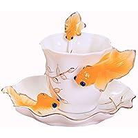 Ceramica Coffee Cup Set / 1 tazza 1 una serie di dischi / creativo Afternoon Tea / regali caffè (6 colori facoltativi) ( colore : F. )
