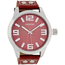 Oozoo Damenuhr mit Lederband 46 MM Rot/Rot C1059