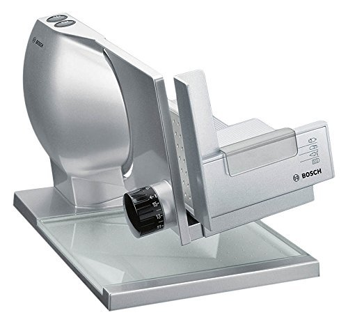 Bosch MAS9454M Allesschneider 2-in-1 MultiCut Messer aus Edelstahl, großer Metallschlitten, 140 W, silber  metallic
