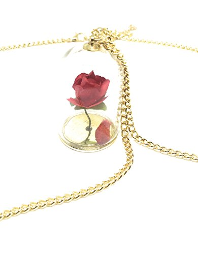 """Souvenir de la película de Disney """"La Bella y La Bestia""""; flor en cristal Viene con caja de regalo."""