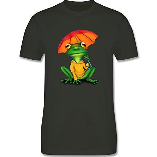 Sonstige Tiere - Wetterfrosch - Herren Premium T-Shirt Army Grün