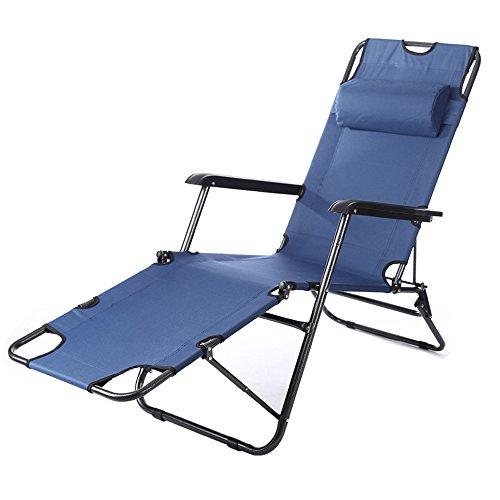 Folding Chair YAN SYF Schwarzes Verstellbares Klappsessel | Mittagspause Büro Klappbett | Klappstuhl Einzelbett Campingbett Garten Campingstuhl 178x50x90cm A+