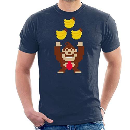 Donkey Kong Tribananas Men's T-Shirt Navy Blue