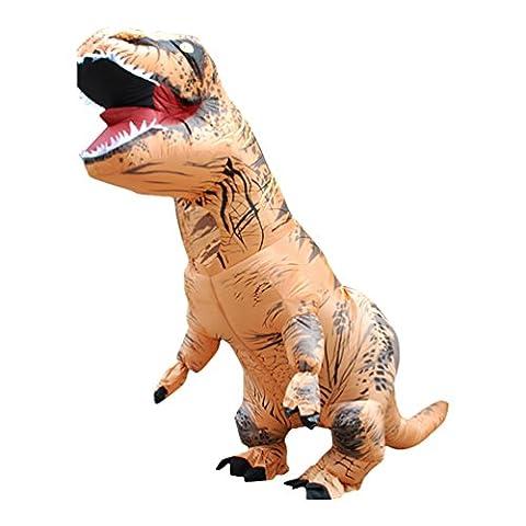 Sronjn Aufblasbare Dinosaurier Sumo Cowboys reiten Kostüm - Kinder Adult eine Größe Kostüm Halloween Outfit Stil (Einfache Gruppe Kostüm-ideen Für Erwachsene)