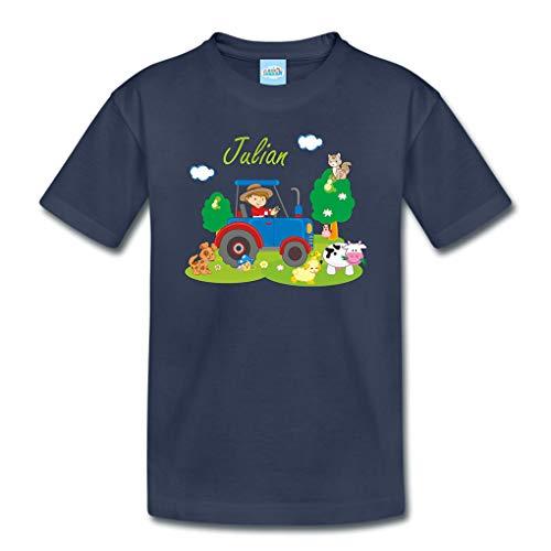 Azienda agricola Maglietta con privato Nomi per Bambini Infante bambini Kindergarten Scolaretto Kindershirt Maglia estiva - 96-104