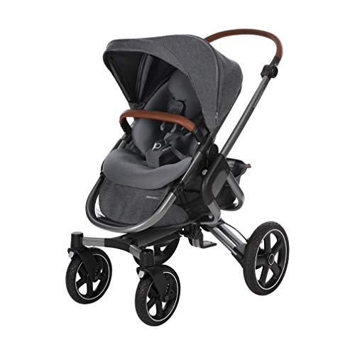 Bébé Confort Nova 4 roues, Poussette Naissance Tout-terrain, Confortable, de la Naissance à 3,5ans (0-15kg), Sparkling Grey