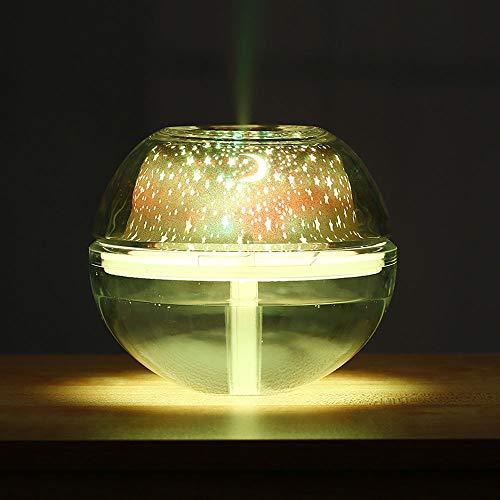 Projektor-Licht-Luftbefeuchter-Kristallprojektions-Lampen-Nachtlampe USB bunte LED