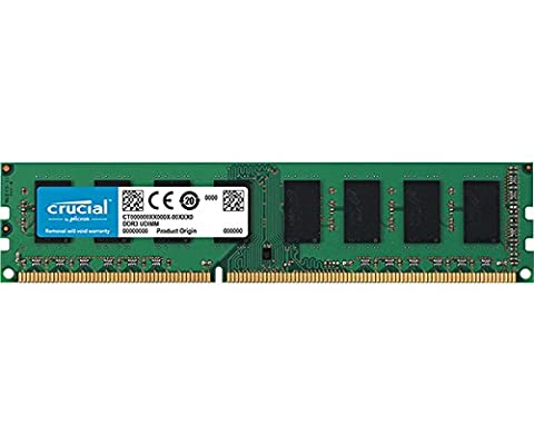 Crucial 4GB DDR3L 1600 MT/s (PC3L-12800) UDIMM 240-Pin - (Ecc Unbuffered Dimm A 240 Pin)