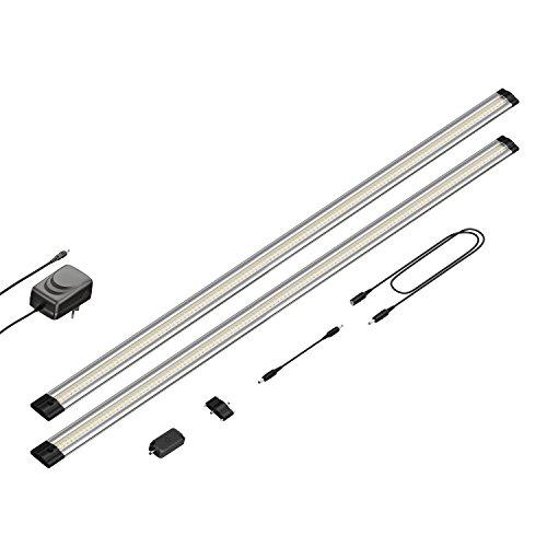 parlat LED Unterbau-Leuchte Siris, Touch-Dimmer, flach, je 90cm, 800lm, weiß, 2er Set